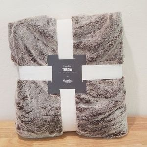 Martha Stewart Faux Fur Throw
